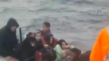 Fırtınaya yakalanan göçmenler ölümden döndü