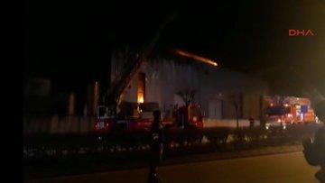 İlaç fabrikası alev alev yanıyor