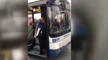 Otobüs şoföründen engelli vatandaşa büyük saygısızlık!