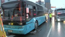 Tır durağı parçaladı, harfiyat kamyonu halk otobüsüne çarptı