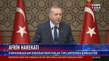 Cumhurbaşkanı Erdoğan 45. muhtarlar toplantısında konuştu
