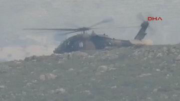 Düşen helikopterden ilk görüntüler...