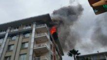 Ataköy Konakları'nda bir ev alev alev yandı