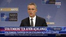 Stoltenberg'ten Afrin açılaması