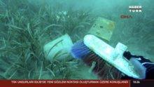 Denizden 615 kilo atık çıktı