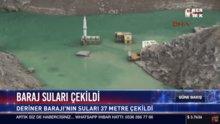 Baraj suları çekildi, eski yerleşim yeri ortaya çıktı