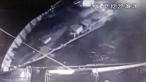 Kardak'taki çarpışma anının görüntüleri ortaya çıktı
