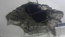 Kilis'te evin mutfağına roket düştü