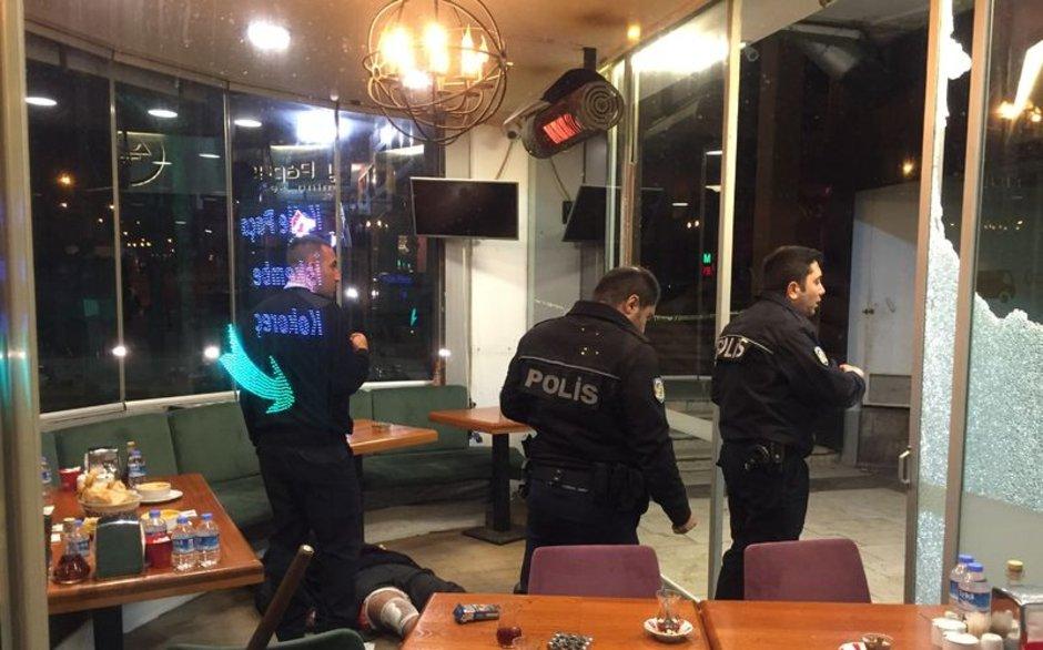 Ataşehir'deki silahlı çatışma güvenlik kameralarına yansıdı