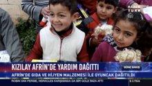 Kızılay Afrin'de yardım dağıttı