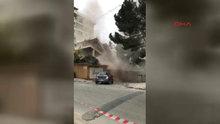 Kadıköy'de tehlikeli yıkım kamerada