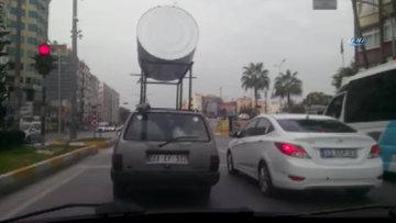Güneş enerjisinin deposunu otomobilin tavanında taşıdı