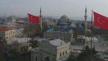 Beyazıt Camisi'ndeki restorasyon havadan görüntülendi