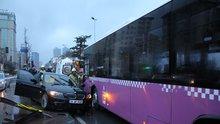 Beşiktaş'ta korkunç kaza! Gözyaşlarıyla izledi