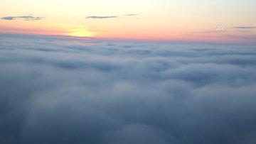 Artvin'de bulutların dansı böyle görüntülendi
