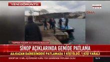 Sinop açıklarında gemide patlama