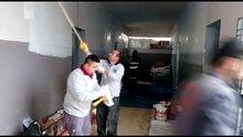 Afrin'de yıkılan okulların yeniden inşasına başlandı