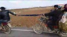 Şanlıurfa'da motosikletlilerin şaşkına çeviren yolculuğu