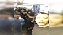 Uçakta sinir krizi geçiren yolcular, gözyaşlarına boğuldu