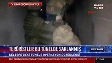 Teröristler bu tünelde saklanmış