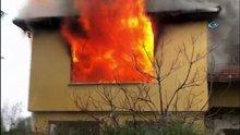 Beylikdüzü'nde boş bir bina alev alev yandı