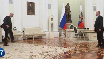 Vladimir Putin'den futbol resitali!