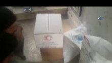 BM'nin yardım paketlerinden kurtlanmış yiyecek çıktığı iddiası