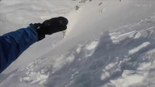 Çığa yakalanan kayakçının gözünden kurtuluş anları