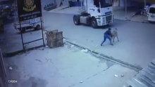 Yola doğru koşan köpeğin hayatını kurtaran kahraman genç
