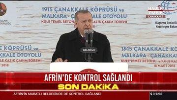 Cumhurbaşkanı Erdoğan, 1915 Çanakkale Köprüsü'nün temel atma töreninde açıklamalarda buludu