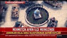 Mehmetcik'ten hilal şeklinde kutlama