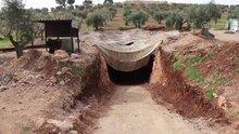 Teröristlerin Afrin merkezindeki tünellerini görüntülendi