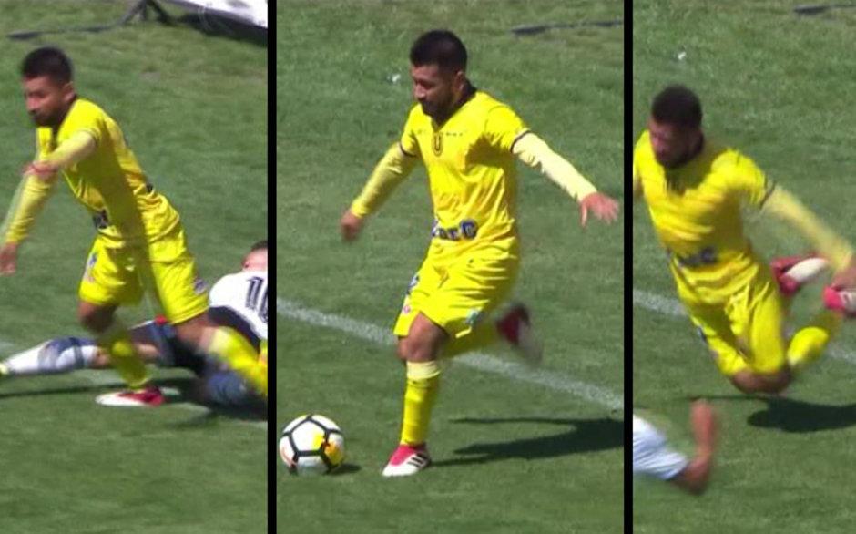 Hakemi kandırdı, penaltıyı kaptı! İşte oscarlık hareket...