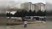 Ordu'da devlet hastanesinin çatısında yangın çıktı