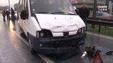 Basın Ekspres'te kaza! Trafik yoğunluğu yaşandı