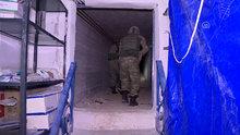 Afrin'de teröristlerin tam teşekküllü yer altı hastanesi