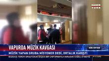 Vapurda müzik yapan gençlere saldırı