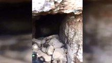 Teröristlerin kullandığı 125 metre uzunluğunda mağara bulundu