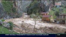 Kayseri'de yağmur sele dönüştü