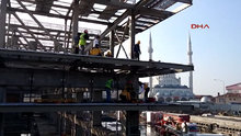 Okmeydanı'ndaki Cemal Kamacı Spor Kompleksi'nin inşaatında meydana gelen kazada 3 işçi yaralandı
