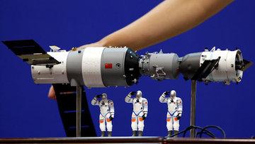 Çin'in kontrolden çıkan uzay aracı Tiangong-1 hafta sonu Dünya'ya düşecek