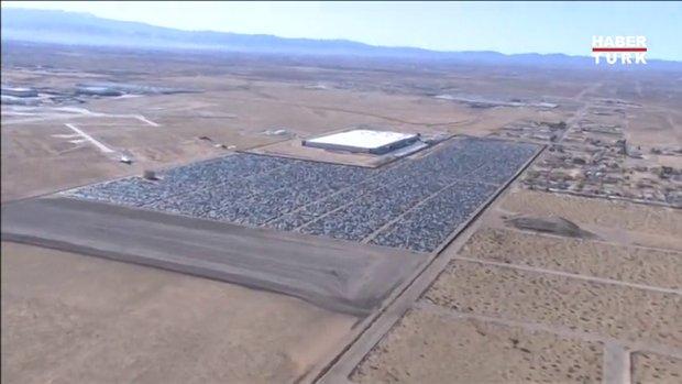 Volkswagen'in dev araba mezarlığı görüntülendi