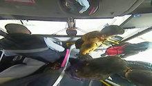 Kahraman şoför kalp krizi geçiren yolcuyu hastaneye götürdü