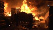 Eyüp'te fabrika yangını