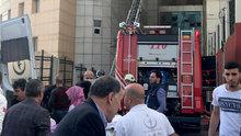 Gaziosmanpaşa'daki Taksim İlk Yardım Hastanesi'nde büyük yangın