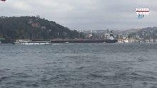 İstanbul Boğazı'nda gemi yalıya çarptı