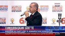 Cumhurbaşkanı Erdoğan partisinin il kongresinde konuştu