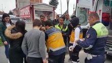 Küçük çocuk ambulansa binmemek için çığlıklar attı