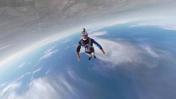 360 derece çekim yapabilen kamera ile hava dalışı