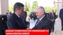 Kırgızistan Cumhurbaşkanı ve Emniyet Genel Müdürlüğü heyeti Çankaya'da